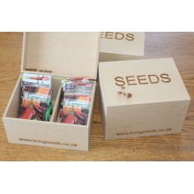 Livingseeds Wooden Seed Storage Box